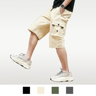 【男人幫大尺碼】K1618-工作短褲 工作褲 工裝褲-卡其色