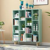 簡易書架簡約現代置物架落地桌上櫃子學生創意格子櫃自由組合書櫃XW全館滿千88折