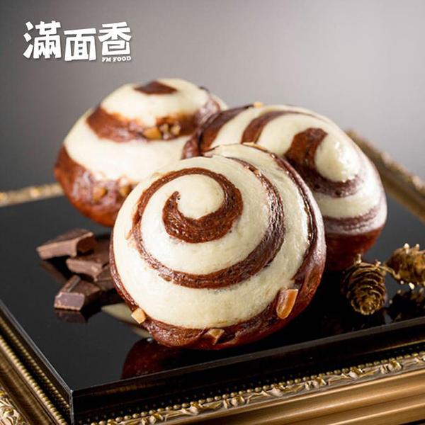 【滿面香】圈圈朱古力(4入/包)_手工老麵饅頭_巧克力饅頭