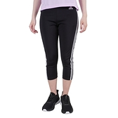 Adidas W 3s 34 Tig [GL3985] 女 七分 緊身褲 彈性 高腰 舒適 透氣 運動 瑜珈 訓練 黑