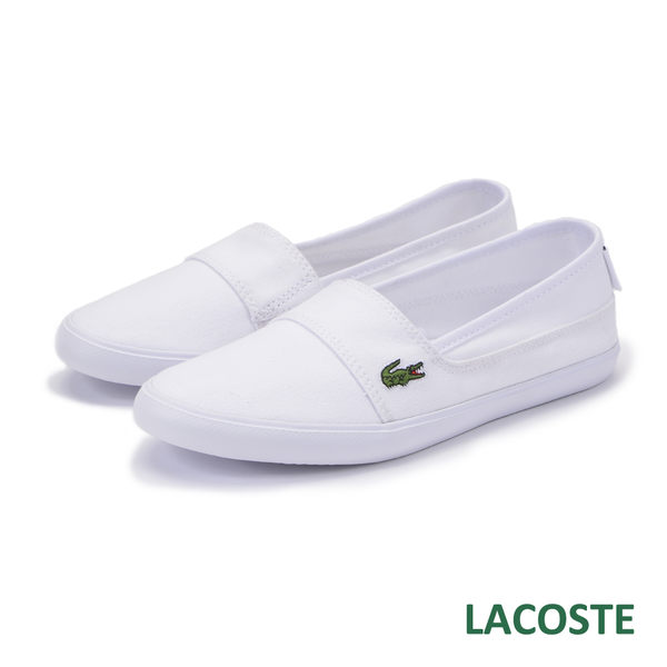LACOSTE 女用休閒鞋/懶人鞋-白色 921