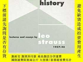 二手書博民逛書店Toward罕見Natural Right And HistoryY256260 Leo Strauss Un