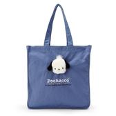 小禮堂 帕恰狗 直式帆布側背袋 帆布手提袋 書袋 帆布袋 (紫 玩偶) 4550337-97557
