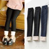 女童一體絨打底褲加絨加厚兒童保曖鉛筆長褲彈力牛仔褲子外穿 歐韓時代