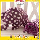 珊瑚絨紫色波點大象抱枕/兒童空調被毯/靠墊