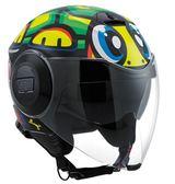 [中壢安信] 義大利 AGV FLUID 彩繪 VR46 Rossi TARTARUGA 烏龜 半罩 安全帽 內建墨片