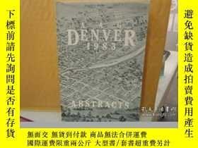 二手書博民逛書店Aag罕見Program Abstracts 1983: Abstracts Of Papers And Post