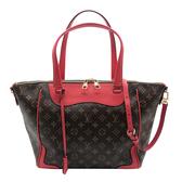 【台中米蘭站】全新展示品 Louis Vuitton Monogram Estrala Poppy 手提/肩背二用包(M41735-罌粟紅)