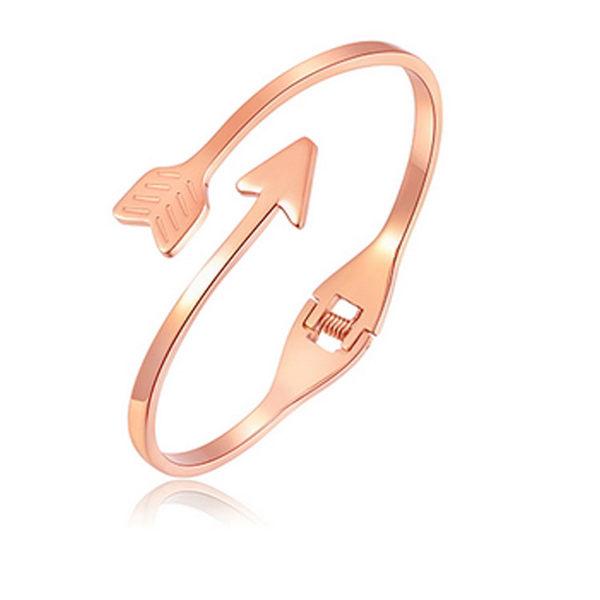 Mao  【5折超值價】情人節禮物最新款時尚精美個性箭頭造型女款鈦鋼手環