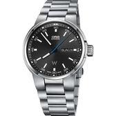 Oris豪利時 Willimas F1賽車系列日曆星期機械錶-黑x銀/42mm 0173577404154-0782450S