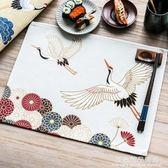 日式和風簡約布藝餐墊茶道防燙隔熱墊餐布巾杯墊餐桌墊盤碗墊拍照