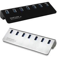 全新 伽利略 USB3.0 5Gbps 7port 充電 HUB 鋁合金 附變壓器 U3H07B【免運+3期零利率】