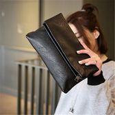 韓版時尚折疊手拿包百搭簡約休閒復古信封包女包【非凡上品】h527