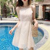 洋裝連身裙-夏秋季新款時尚氣質流蘇超仙連身裙海邊度假沙灘裙露肩吊帶背心裙女Y25770