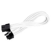 SilverStone 銀欣 SST-PP07-PCIW 8pin轉PCI-E 8pin(6+2)接頭編織網線材 白色