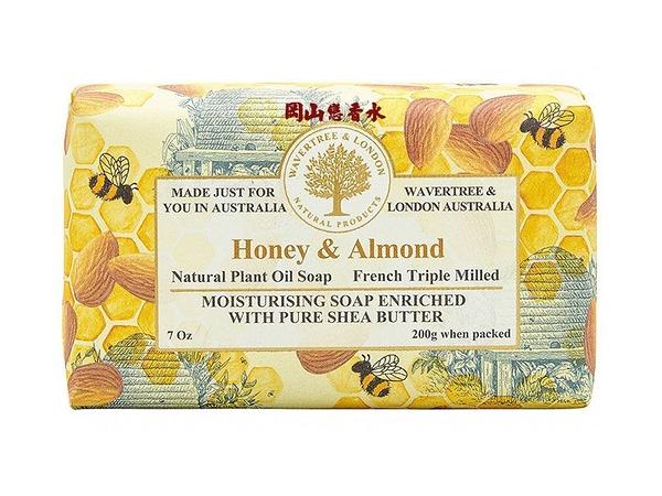 岡山戀香水~澳洲 W&L植物精油香皂-蜂蜜杏仁 200g~優惠價:145元