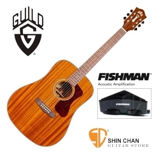美國經典品牌 Guild D-120E 可插電全單板吉他(標準D桶身)Fishman拾音器/附Guild原廠吉他袋/軟Case