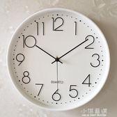 鐘錶掛鐘客廳現代簡約大氣創意時尚個性圓形超靜音家用臥室石英鐘CY『小淇嚴選』