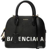 【Balenciaga 巴黎世家】518873 經典Balenciaga 印字手提/斜背兩用包(黑色)