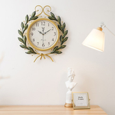 掛鐘 藝術品美式復古創意時尚鐘錶時鐘掛鐘現代簡約家用客廳個性石英鐘 3色 T