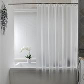 浴室洗澡浴簾套裝免打孔防水簾加厚衛生間淋浴簾隔斷簾子掛簾門簾 夏日新品