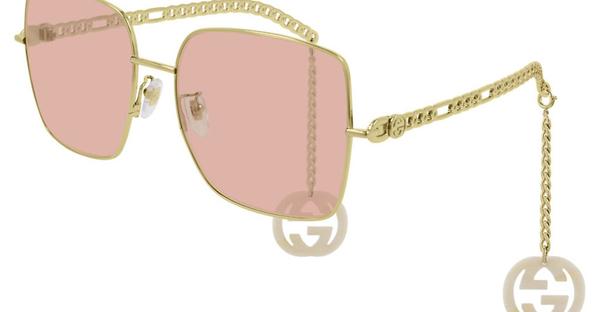 GUCCI GG0724S (003色)2020 - Logo鏈飾款墨鏡 蕭敬騰、倪妮 佩戴系列