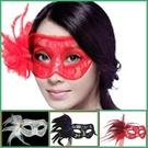 威尼斯 ( 側面孔雀羽毛 ) 蕾絲面具 面紗/眼罩/面罩 cosplay 表演 舞會 派對 整人 生日禮物【塔克】
