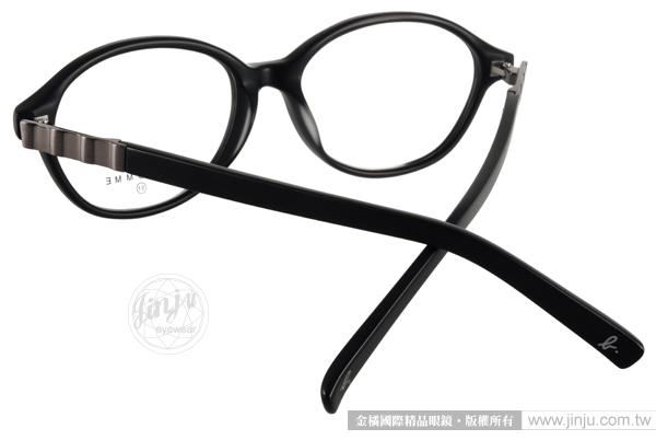 agnes b.光學眼鏡 AB7013 BM (霧黑-槍銀) 輕時尚人氣款 平光鏡框 # 金橘眼鏡