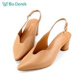 Bo Derek 尖頭波浪V口包頭涼鞋-駝色