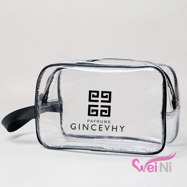wei-ni 透明洗漱包(中) 萬用包 整理袋 旅行購物袋 旅行收納袋 旅遊整理袋 旅行收納包 沙灘收納袋