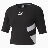 PUMA TFS 女款短版黑色短袖上衣-No.59775001