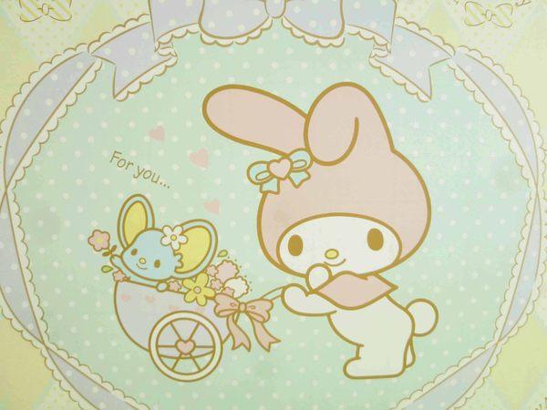 【震撼精品百貨】My Melody 美樂蒂~雙面卡片-粉樹屋