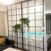 屏風 北歐黑框客廳屏風房間隔斷牆現代簡約鐵藝裝飾玄關臥室餐廳辦公室T