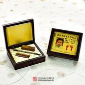 促銷嬰兒三寶:臍帶印章2個(電腦刻)+一般型袖珍型胎毛筆1支+烤漆玻璃木盒+金足印