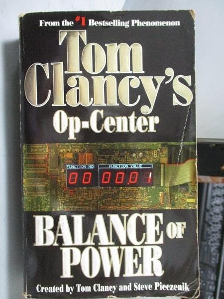【書寶二手書T3/原文小說_ORF】Tom Clancy s Op-Center_Balance of Powerr
