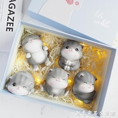 可愛貓咪擺件創意樹脂車內裝飾品治愈系小日式辦公桌面生日禮物女