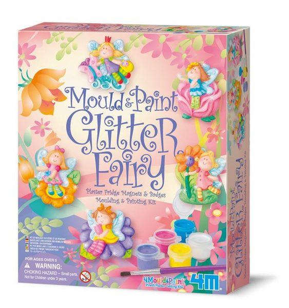 【4M】美勞創作系列 - 燦爛小精靈(製作磁鐵) Mould & Paint / Glitter Fairy 00-03524