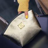 韓版女化妝包小號便攜迷你簡約大容量收納包防水可愛家用旅行【居享優品】