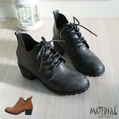 短靴 刷色紋綁帶短靴 MA女鞋 T1853