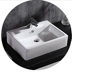 【麗室衛浴】LS-60 方型檯上盆 60*46.5*H16CM