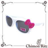 【Chimon Ritz】帥氣貓兒童太陽眼鏡-白