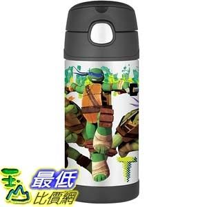 [美國直購] Thermos 兒童保溫水壺 忍者龜:變種世代 12 Ounce Funtainer Bottle, Teenage Mutant Ninja Turtles