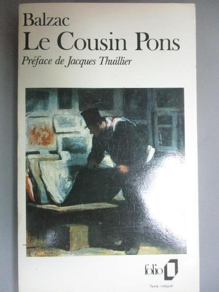 【書寶二手書T8/原文小說_OKA】Le Cousin Pons_Honore de Balzac, Gallimard Folio edition