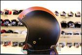 [中壢安信]M2R 300 黑橘 復古帽 安全帽 皮帽 兩線/三線