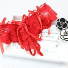 【606】紅色-性感蕾絲緞帶丁字褲