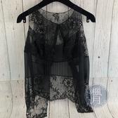 BRAND楓月 CHANEL 香奈兒 黑色 蕾絲 透膚 無袖 外搭 罩衫 背心 上衣 定價約8萬