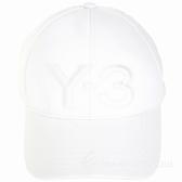 Y-3 LOGO刺繡設計白色彈性纖維棒球帽1920172-20