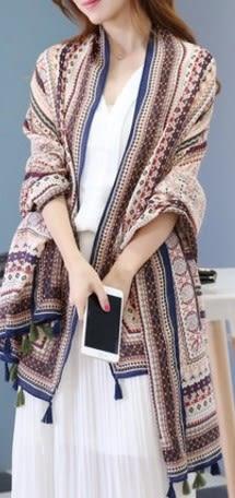 [協貿國際]  女士春秋超大圍巾披肩 (1入)