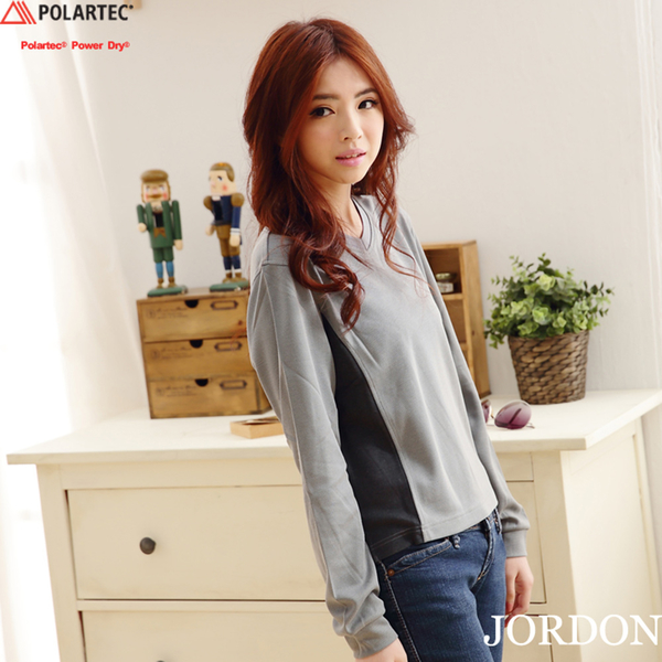 【JORDON】POLARTEC Power Dry長袖 圓領機能排汗衫770
