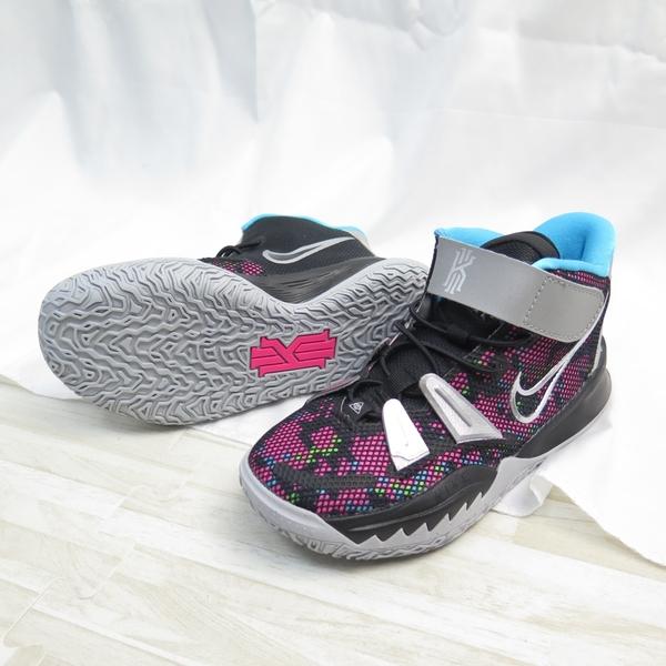 NIKE KYRIE 7 (GS) 中童 魔鬼氈 籃球鞋 CT4087008 黑x銀【iSport愛運動】